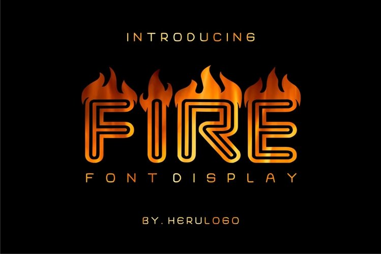 Fire Display Font example image 1