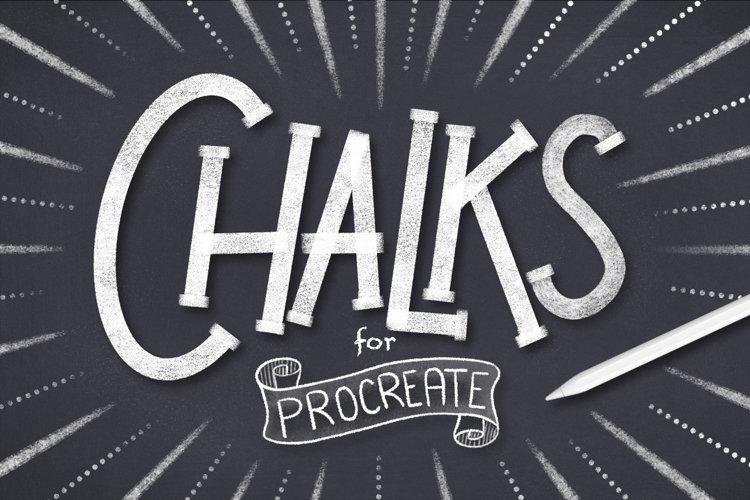 CHALK BRUSHES FOR PROCREATE example image 1