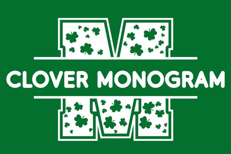 Clover Monogram - Saint Patrick's Day Font example image 1
