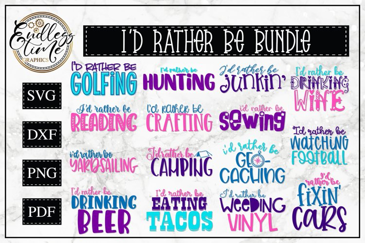 I'd Rather Be Bundle - A Fun and Quirky SVG Bundle example image 1