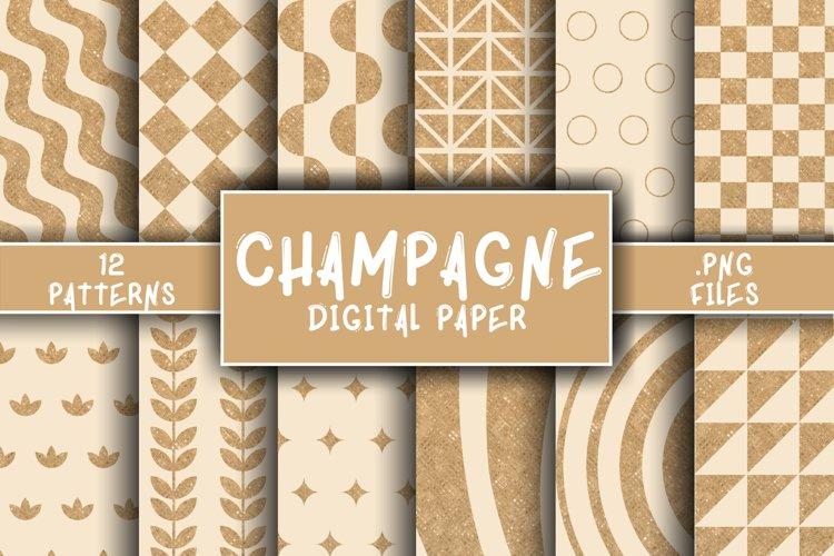Champagne Pattern Digital Paper