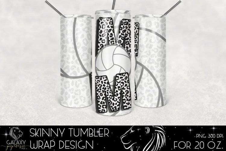 Volleyball Mom 20 Oz. Skinny Tumbler Wrap Sublimation