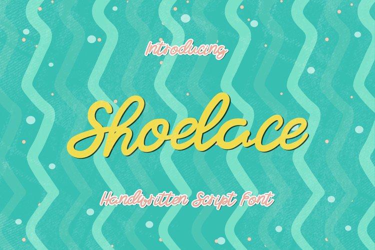 Shoelace - A Bouncy Handwritten Script Font example image 1