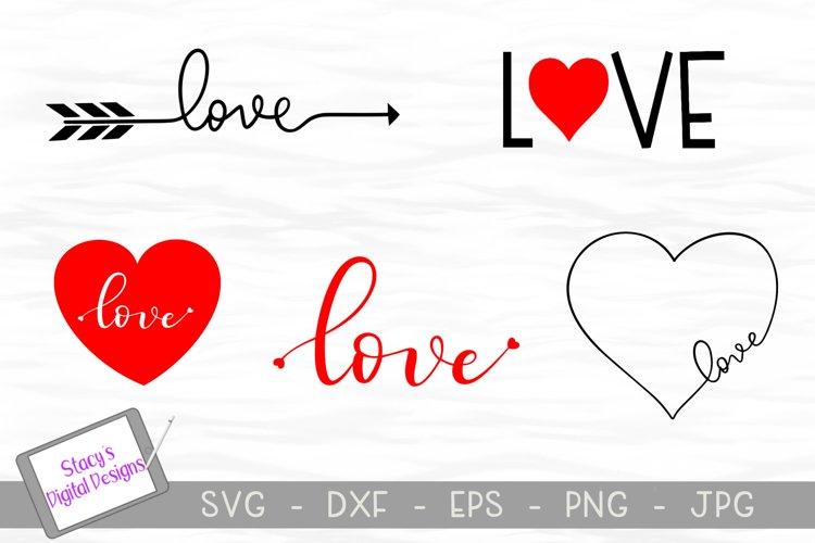 Love SVG Bundle - 5 Valentines Day SVG files