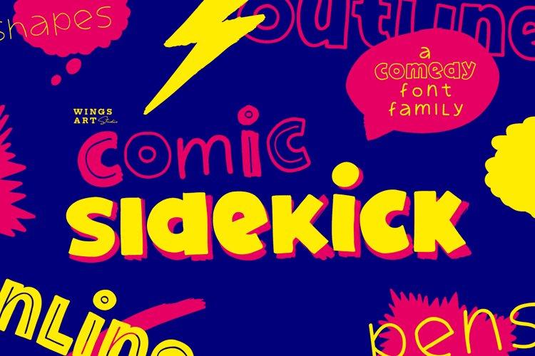 Comic Sidekick A Screwball Comedy Font Family! example image 1