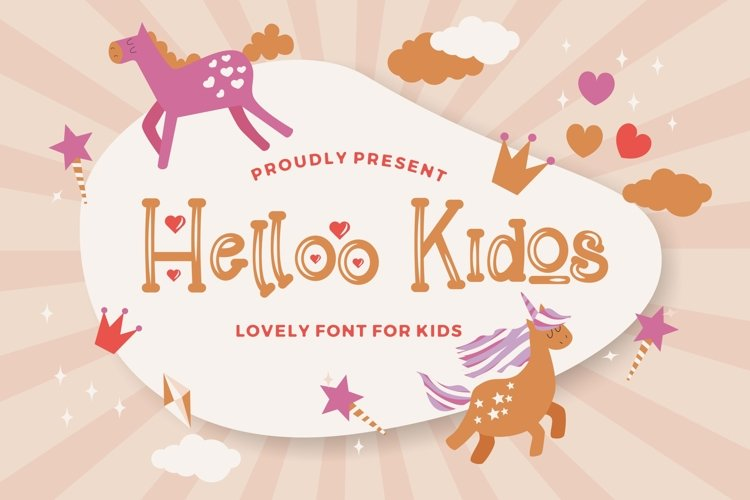 Helloo Kidos - Playful Display Font example image 1