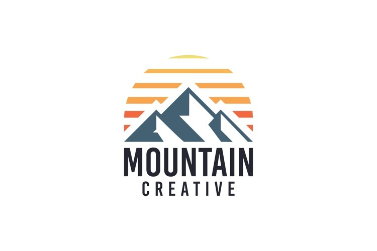 Mountain Sunset Creative Logo Template example image 1