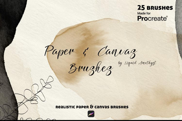 Paper and Canvas Procreate brush set