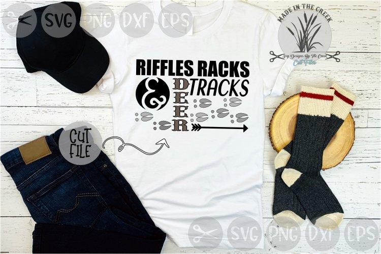 Hunting, Riffles, Racks, Deer Tracks, Cut File, SVG example image 1