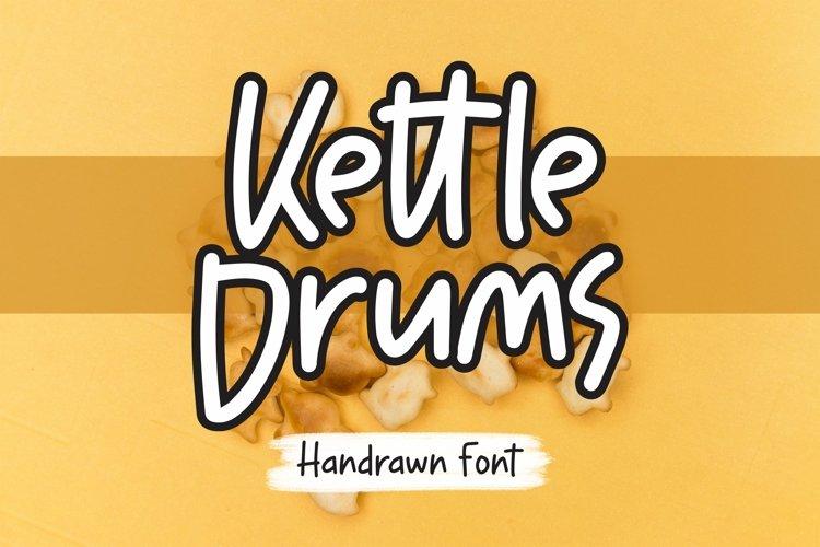 Web Font Kettledrums - Handrawn Font example image 1