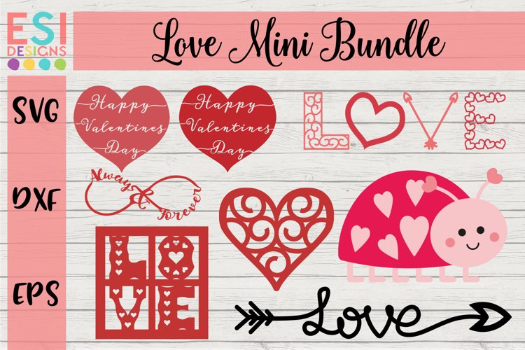 Love - Valentines Design Mini Bundle example image 1