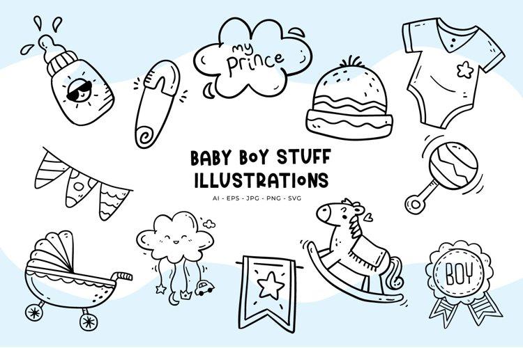 Baby Boy Stuff Illustrations