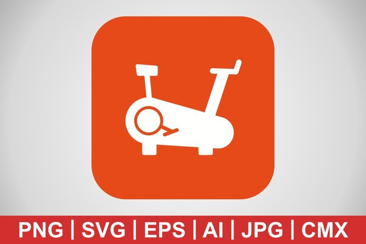 Vector Cycling Machine Icon example image 1