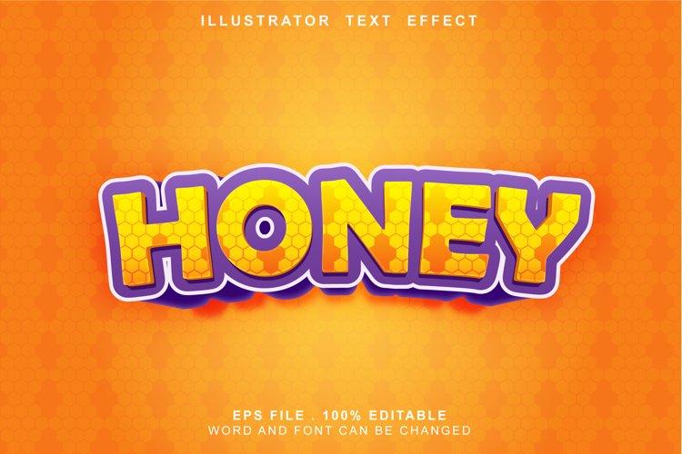 honey text effect editable example image 1