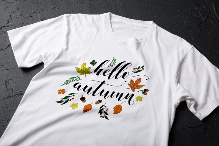 Hello Autumn Svg   Fall Svg example image 1