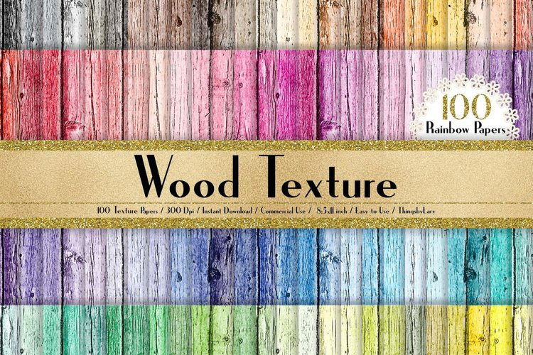 100 Wood Texture Background in 8.5x11 Rustic Wood