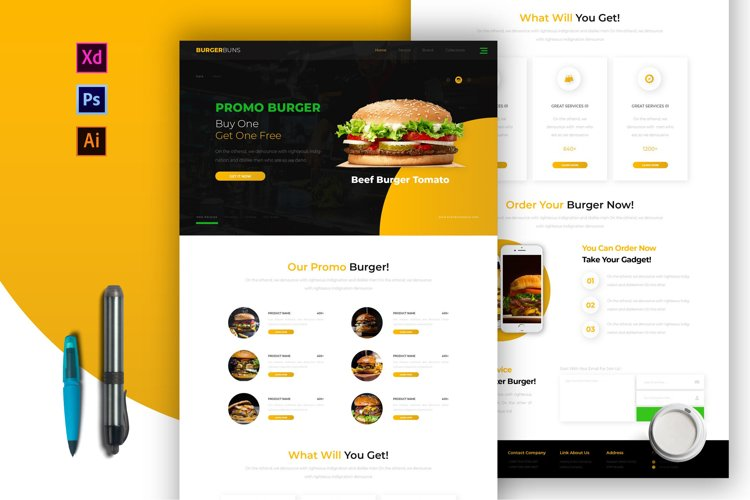 Burgerbuns | Email Newsletter Template example image 1