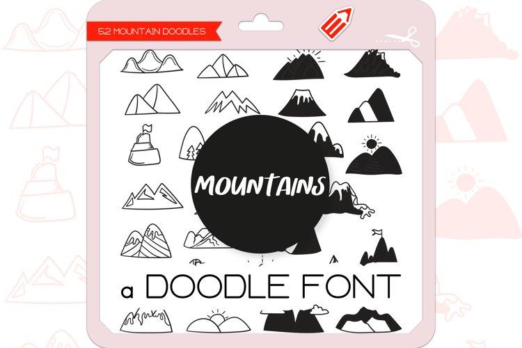 Mountain Doodles - Dingbats Font example image 1