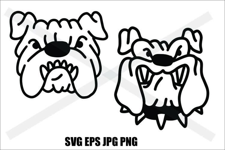 Bulldog Head - PNG SVG EPS PNG example image 1