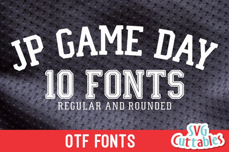 JP Game Day | Athletic Font | Collegiate Font