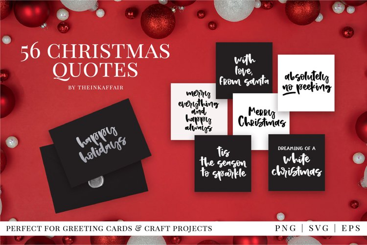 56 christmas quotes bundle, greeting cards