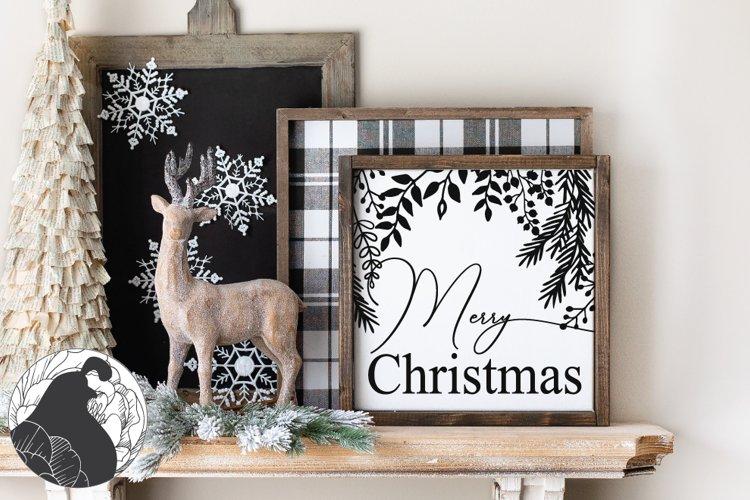 Christmas SVG, Merry Christmas SVG Cut File example image 1