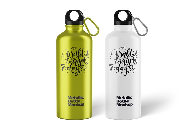 Metallic Bottle Mockup example image 1