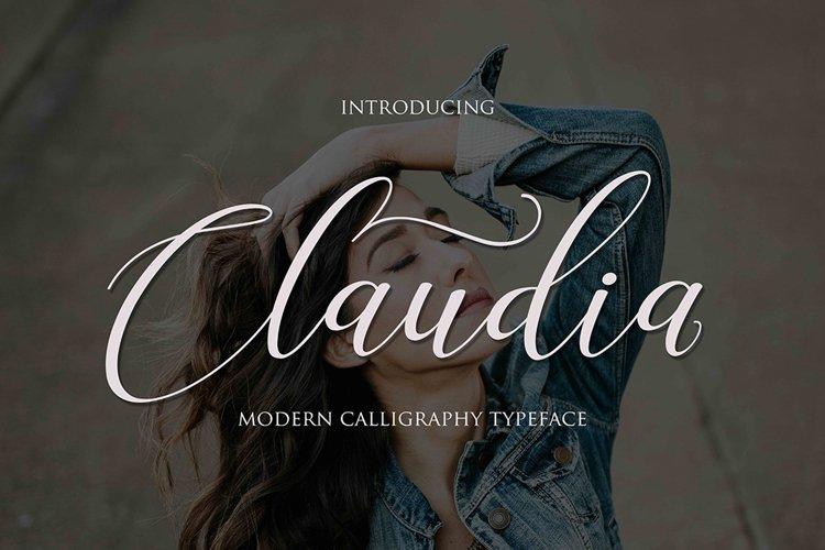 Claudia Script | WEB FONT example image 1