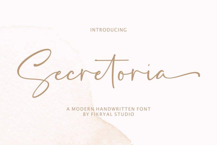 Secretoria - A Modern Handwritten Font