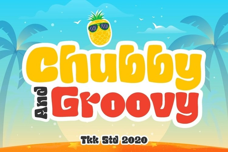 Chubby and Groovy - Kids Retro Font
