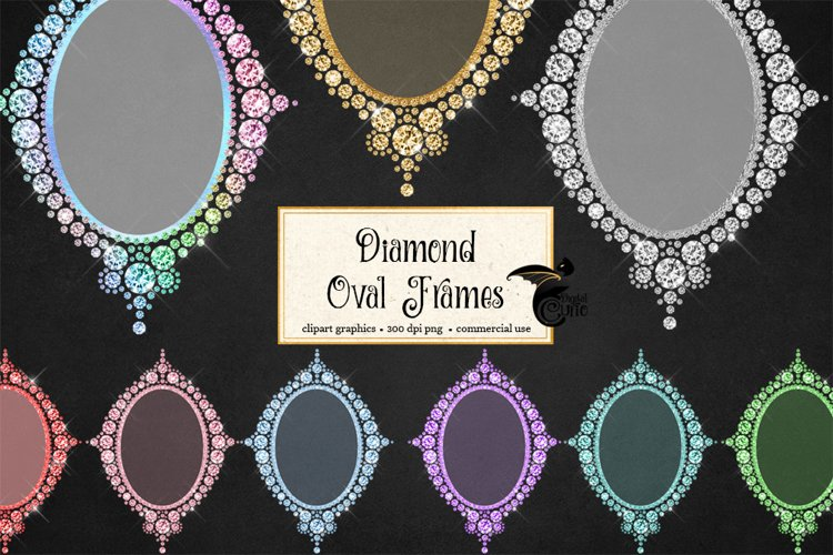 Diamond Oval Frames Clipart example image 1