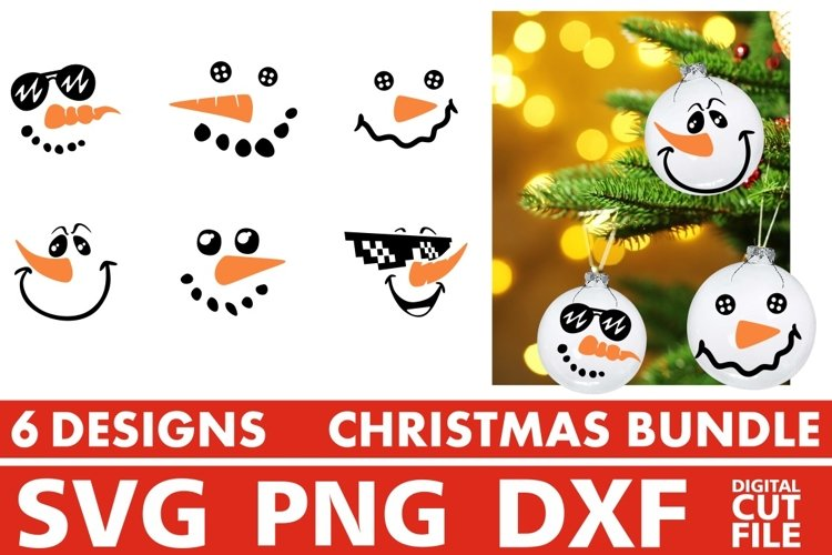 Christmas svg Bundle, Christmas Ornaments svg, Snowman svg
