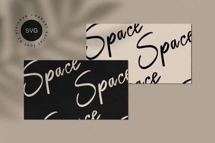 Space SVG Casual Font example image 1