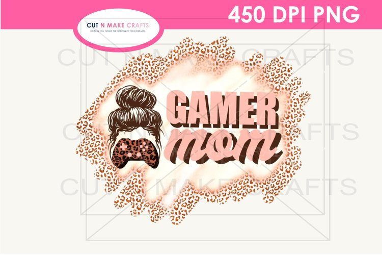 Gamer Mom Sublimation Design for T-shirts PNG Gaming T-shirt example image 1