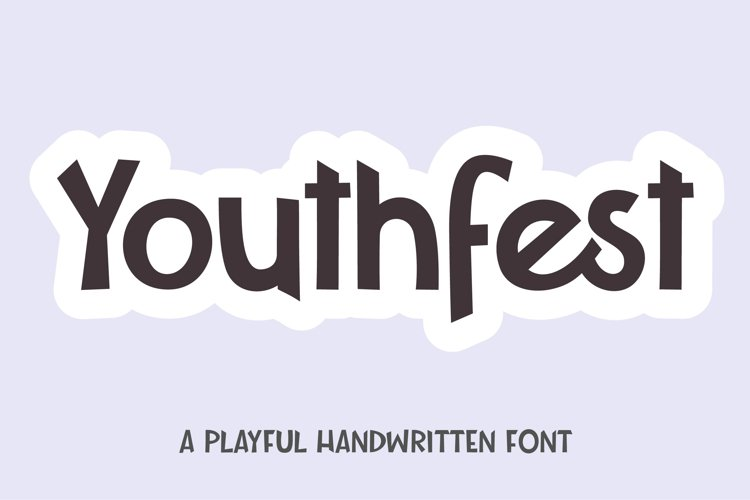 Youthfest - a playful handwritten font example image 1