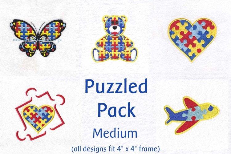 Puzzle Theme Puzzled Detail Size Medium (fits 4