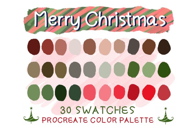 Merry Christmas Procreate Color Palettes example image 1