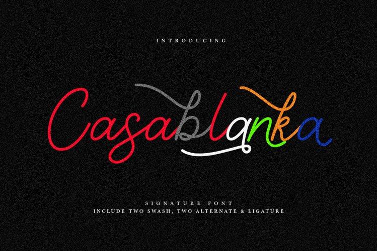 Casablanka Script example image 1