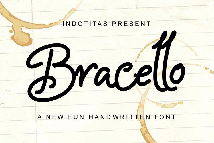 Bracello - A Fun Handwritten example image 1