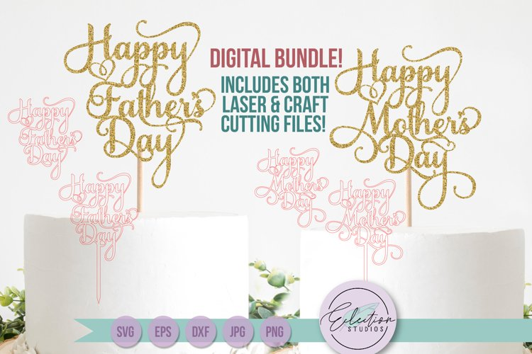 Mothers Day & Fathers Day Cake Topper