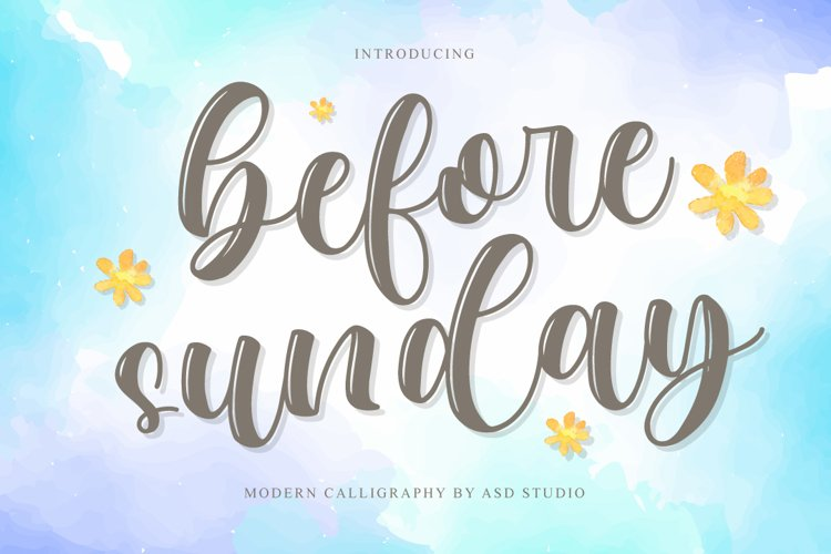 Before Sunday - Modern Calligraphy example image 1