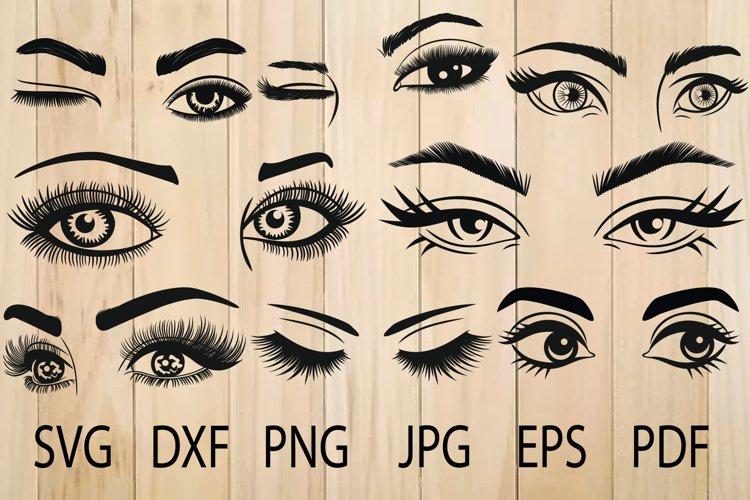 Eyes SVG, Eyelashes SVG, Eyebrow