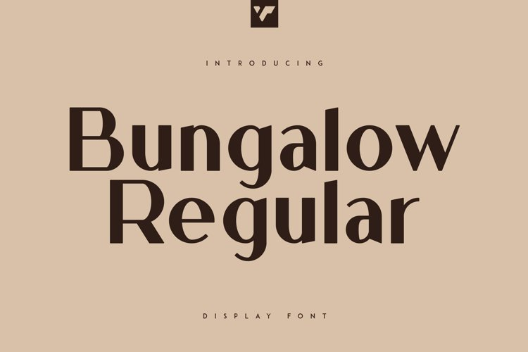Bungalow Display Font example image 1