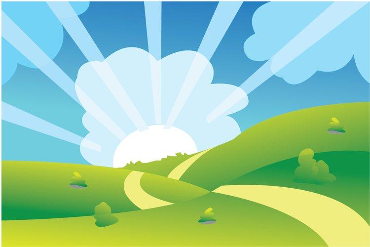 Garden landscape vector illustration example image 1