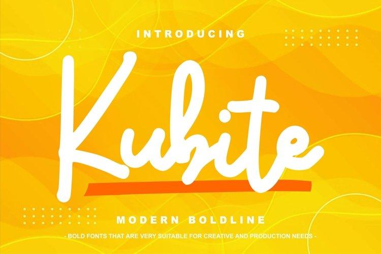 Kubite | Modern Boldline example image 1