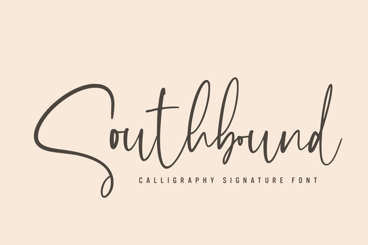 Southbound - Calligraphy Signature example image 1