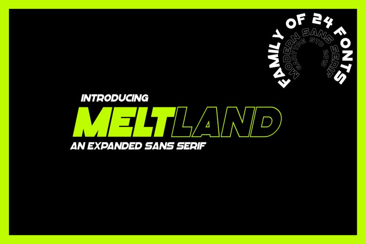 "Meltland Font Family - ""24 FONTS"" example image 1"