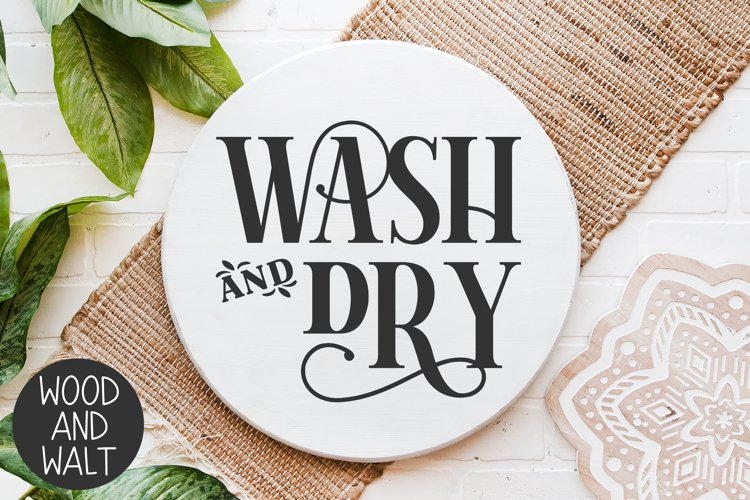 Wash And Dry SVG | Laundry Cut File