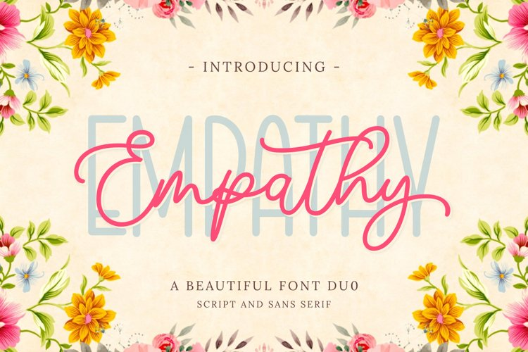 Empathy | Beautiful Font Duo example image 1