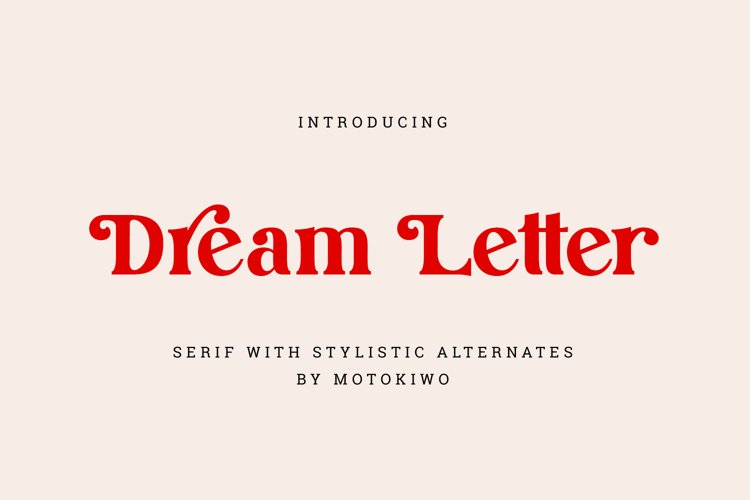 Dream Letter, Display Serif Font example image 1